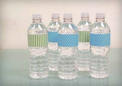 Water Bottle Labels DIY