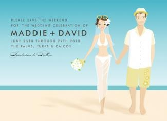 This Doc Milo invitation is great for save the date or bridal invitations for your beach inspired wedding.