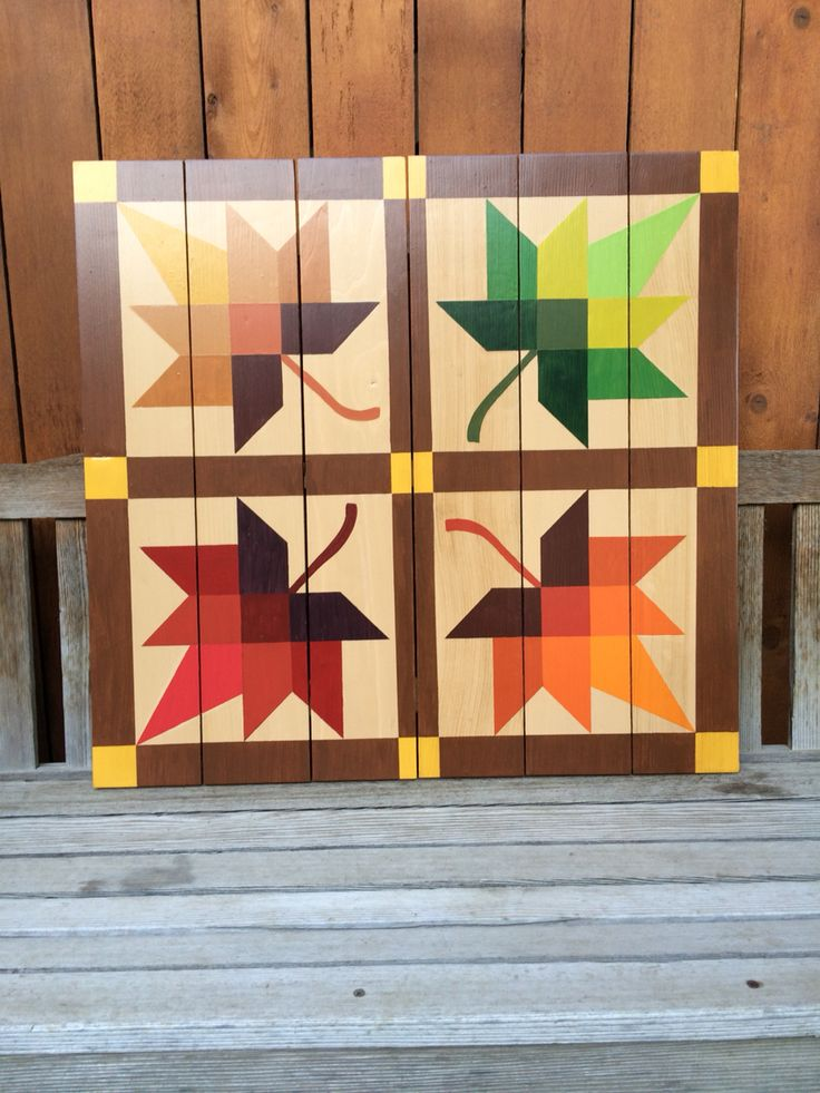 Barn Quilts by Chela - Color of Fall                                                                                                                                                     More