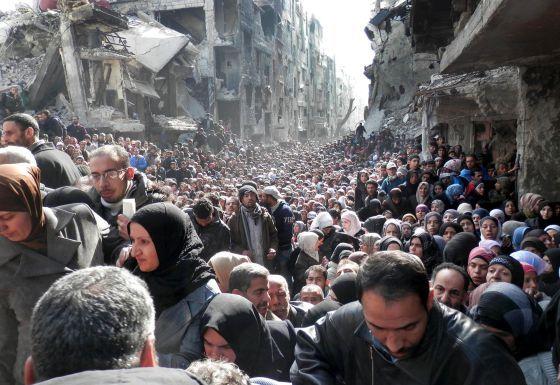 Yarmouk, Siria. 31 enero 2014. UNCREDITED (AP)