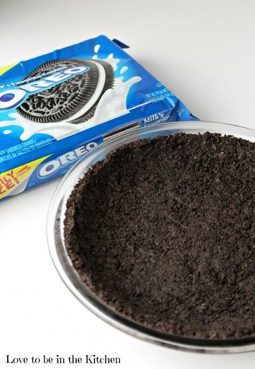 Oreo Pie Crust Recipe - Love to be in the Kitchen