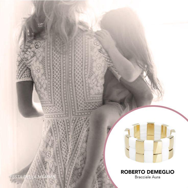 Bracciale in ceramica bianca e dorata. #bracciali #jewelry #gioielli #RobertoDemeglio