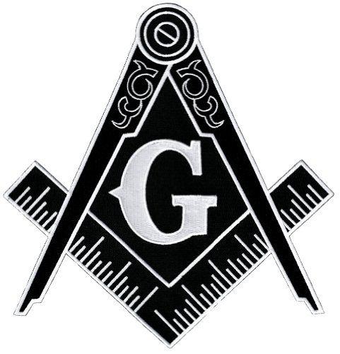 masonic logo large black patch embroidered ironon