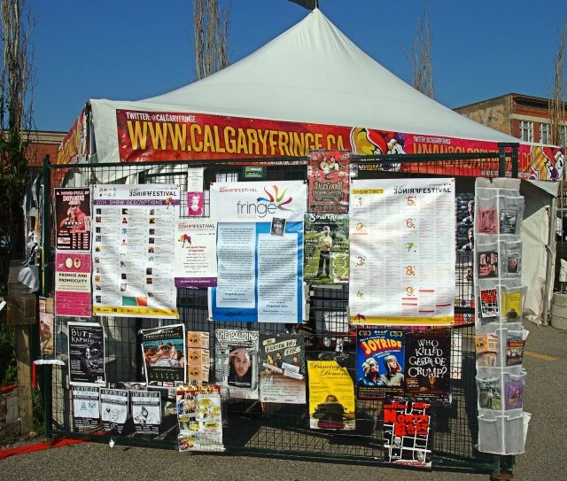 Posters at the 2014 Calgary Fringe Festival.