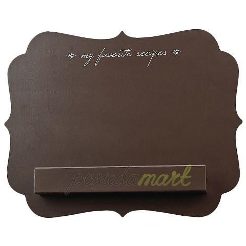Подставка для поваренной книги My Favorite Recipes Brown, 36 см, дерево, коричневый, серия Кухонные аксессуары, Boston