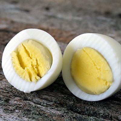 Snack on this: Boil up a batch of eggs, put them in the fridge, and you've got an instant snack that packs 6 grams of protein into just 78 calories.