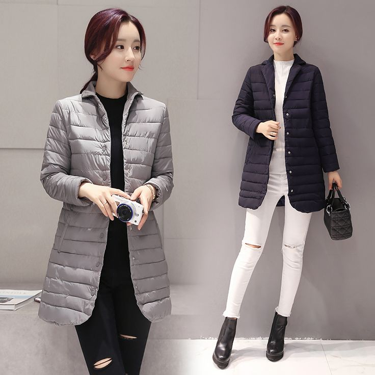 € 24) thin women winter down coat 2016 Slim body fashion high quality long jacket female black Parkas Coat-in Down & Parkas from Women's Clothing & Accessories on Aliexpress.com | Alibaba Group