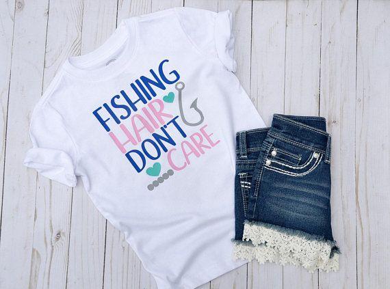 Toddler fishing shirt Baby shower Fishing hair don/'t care shirt Girls fishing shirt Country girl shirt Kids summer shirt