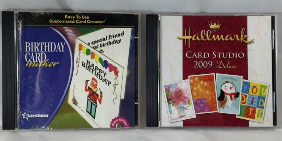 2 DVD-ROM Birthday Card Maker And Hallmark Card Studio Deluxe 2009. Create & Print Customized Birthday Cards In Minutes.
