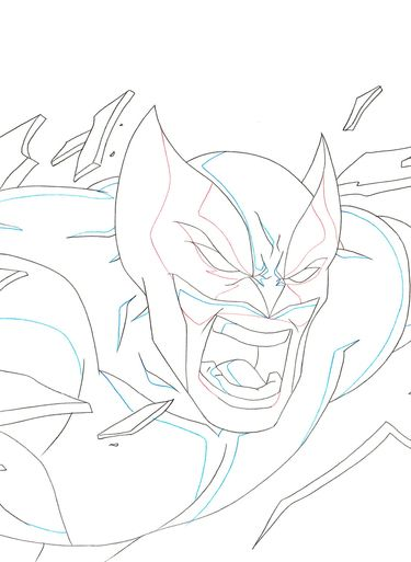 Ultimate Spider-Man Original Marvel Animation Art (Wolverine) C16