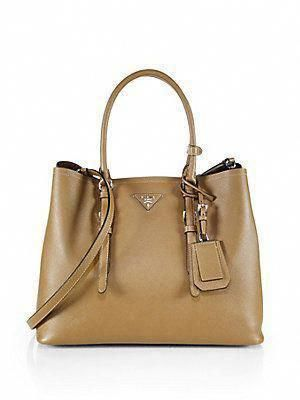 e655ead1671a Prada Saffiano Cuir Medium Double Bag in Color Granato-Garnet #Pradahandbags