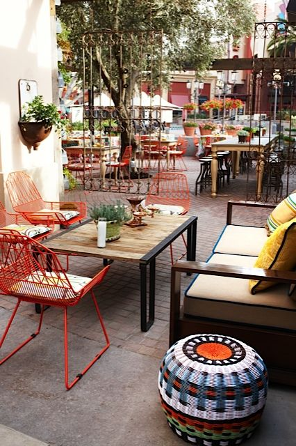 Love the patio at Cucina Enoteca in Irvine, would love the our future patio to look like this.