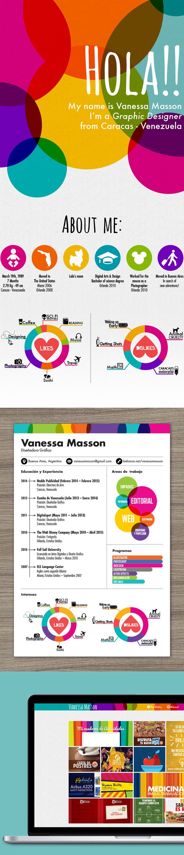 Hi I'm Vanessa Masson, graphic designer from Venezuela. This is my cv feel free to email me :)
