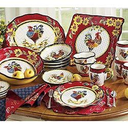 Chanticleer Rooster Dinnerware    Love these!!