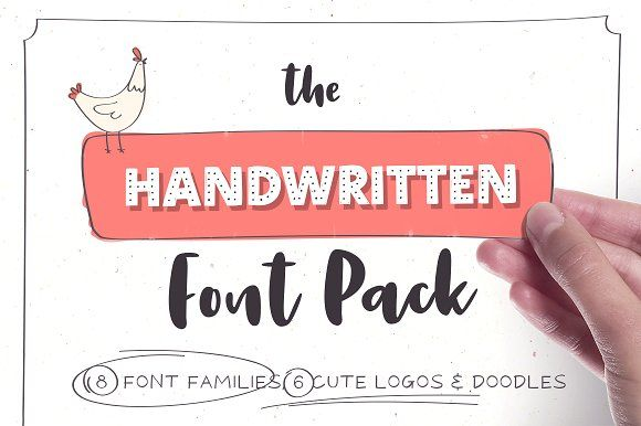 Handwritten Font Pack & Extras by VladCristea on @creativemarket