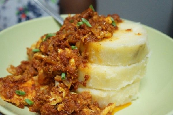 Egg stew Nigerian breakfast yam food african