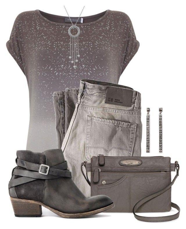 Smoky Gray by jennifernoriega on Polyvore featuring polyvore fashion style Mint Velvet BOSS Orange H by Hudson Rosetti NOVICA London Road clothing