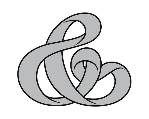 Dave Bailey for Font Aid IV: Mobius Ampersand, Dave Baileys, Custom Letters, Mobiusampersand, Strips Ampersand, Möbius Strips, Ampersand Logos, Mobius Strips, Design