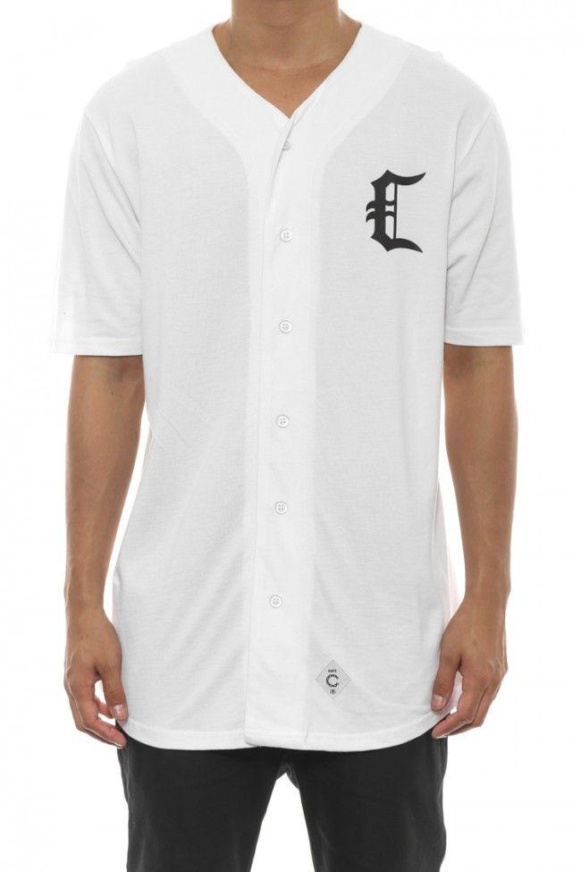 Stadium C Baseball Jersey White