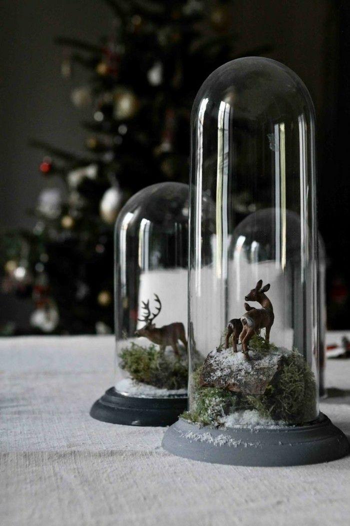 deco de noel originale pas cher, comment decorer avec une cloche en verre et la…