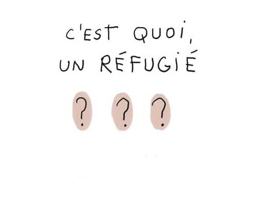 Un réfugié est une personne obligé de quitter sa  maison et la plupart du temps son pays. Il y a  aujourd'hui 45 millions de réfugiés dans le monde. A  cause des guerres, des persécutions, de  catastrophes naturelles, etc.