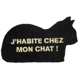 Paillasson Chez mon chat - 25,00 € - http://www.ctendance.fr/paillasson/3568-paillasson-chez-mon-chat-recrea.html