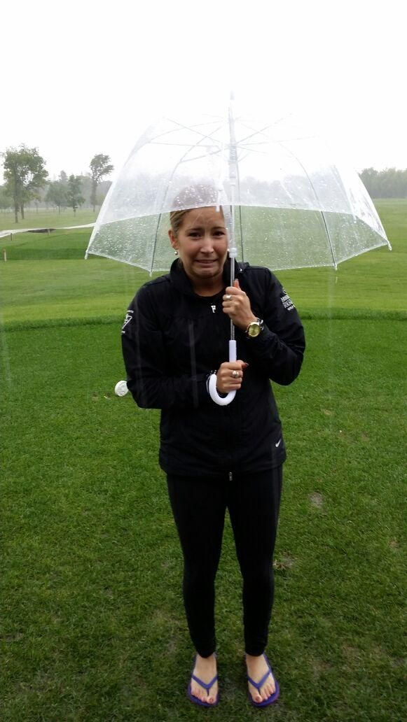 Poor Kaitlyn and the rest of impact got soaked golfing