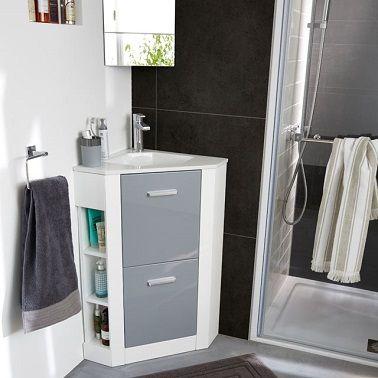 Plan vasque d'angle pour petite salle de bain Castorama