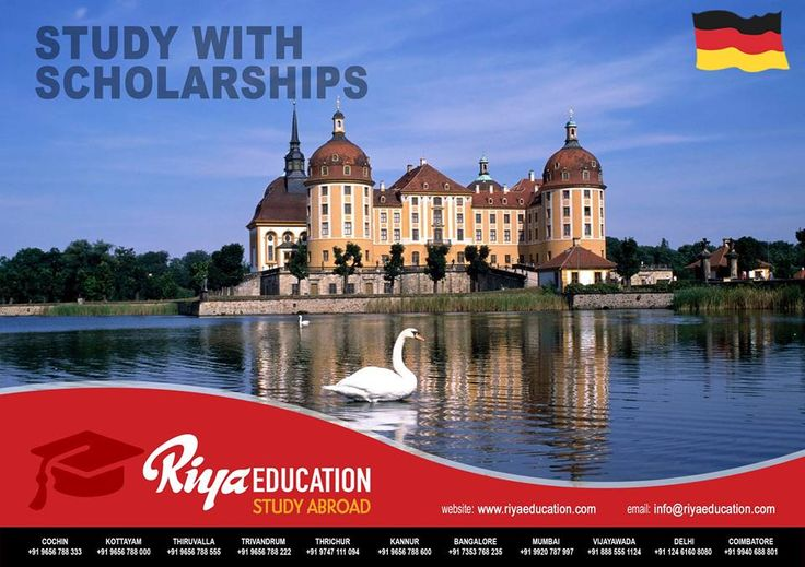 Study abroad in Germany with Scholarships. Get in touch with Riya Education for overseas education. Visit our website for contact details.