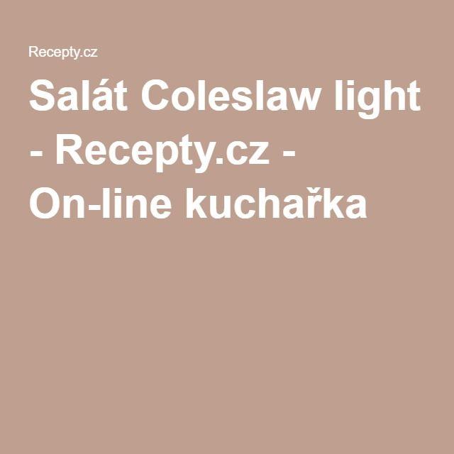 Salát Coleslaw light - Recepty.cz - On-line kuchařka