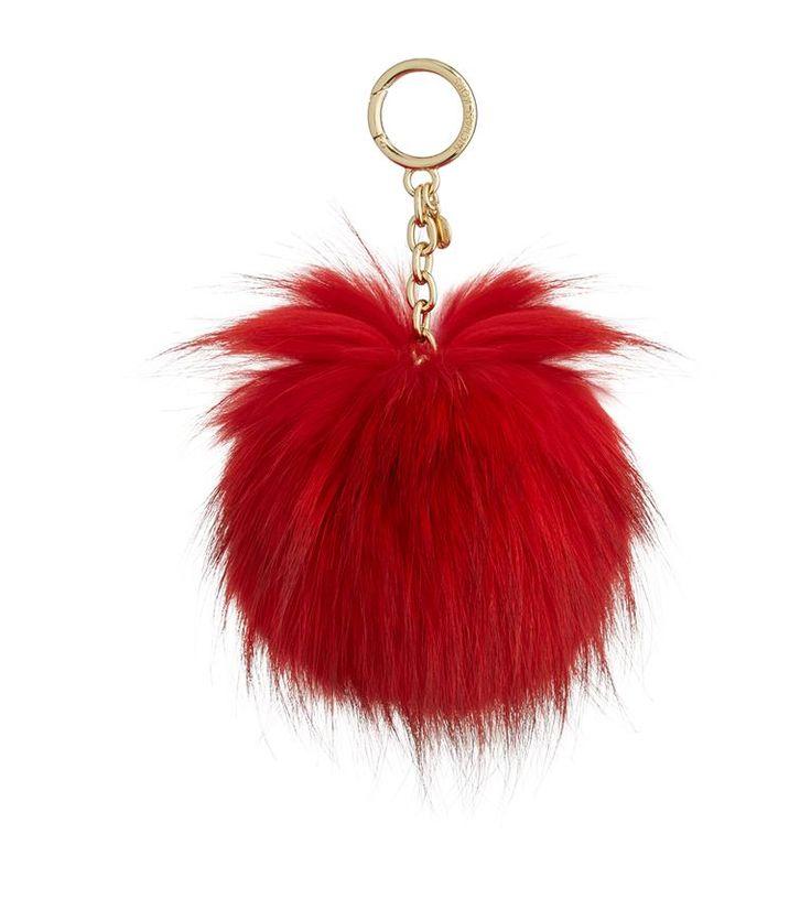 MICHAEL KORS Large Fur Pom Pom Keyring. #michaelkors #bags #fur #