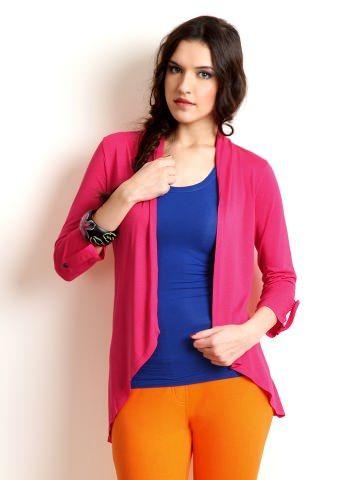 Buy Riot Women Pink Shrug - RTW62K01AI13233-171117 - Apparel for Women via @Myntra.com