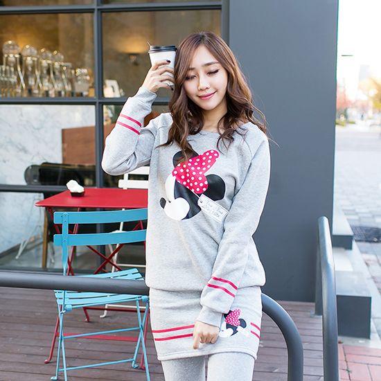 Korea Woman Big size clothing shop. [Jstyle] upgrade your Mini Training set / Size : L,XL / Price : 42.12 USD #dailylook #OOTD #JSTYLE #plussize #loosefit #large #xlarge #Tshirt #pants #traningwear #leggingskirt