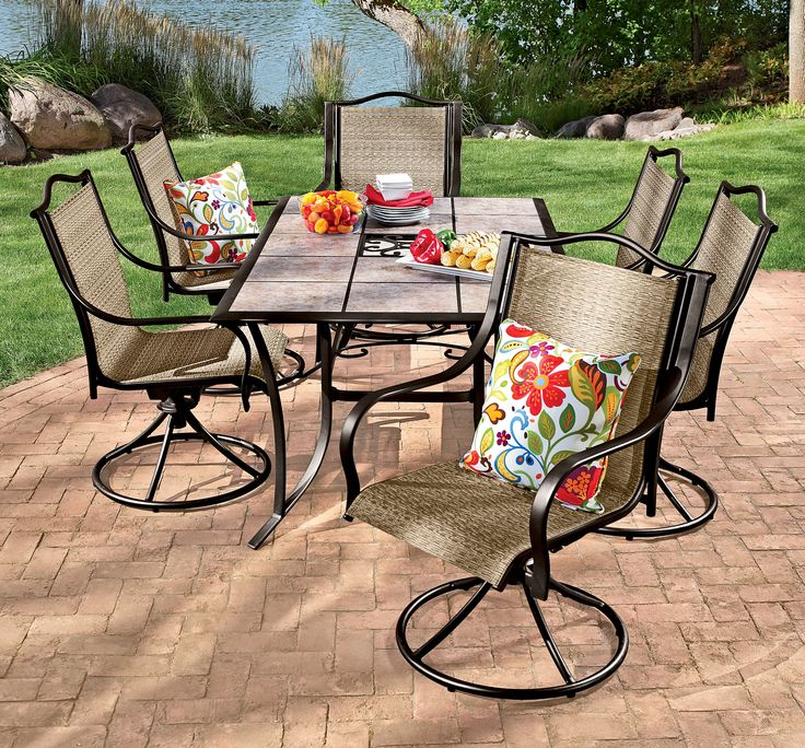 Exceptional Outdoor Decorative Pillows Add A Pop Of Color To This Patio Set #shopko