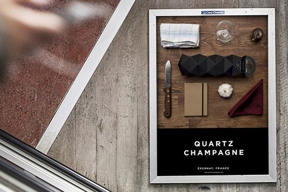 Quartz Champagne Faceted student project