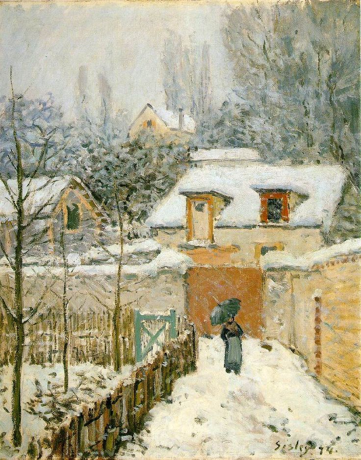 Alfred Sisley - Snow at Louveciennes, 1874, oil on canvas