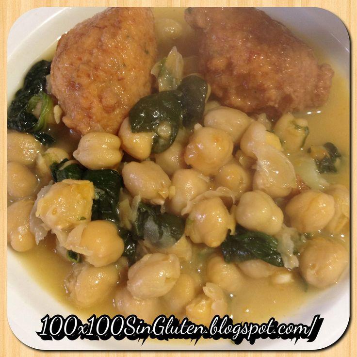 Potaje de vigilia (garbanzos con bacalao y espinacas) sin gluten paso a ...