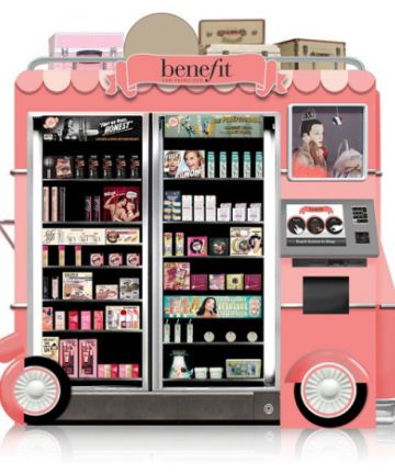 """Benefit a pink """"food truck"""" vending machine full of makeup goodies?  I'd give it a spin"""