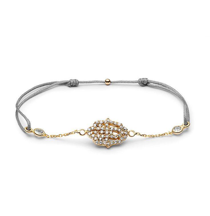 Charm'ed bracelet by Charm'ed Copenhagen - Fatima's Hand, Choose your own colour of ribbon www.charmedcopenhagen.com - #charmed #bracelet #danishdesign #eye #jewellery #armbånd #smykker #charmed_cph #rikkehandrecknovod