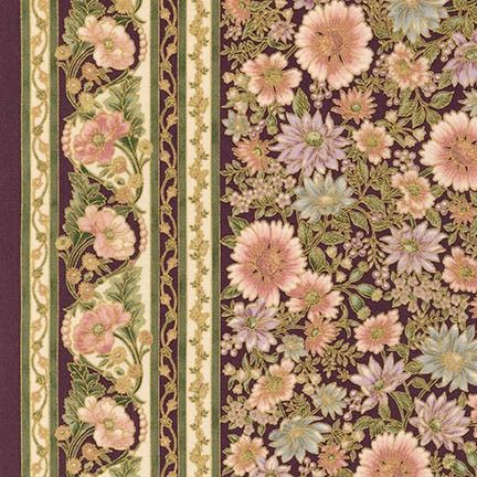Robert Kaufman Fabrics: APTM-15406-106 BLOSSOM by Peggy Toole from Tuscan Wildflower 3