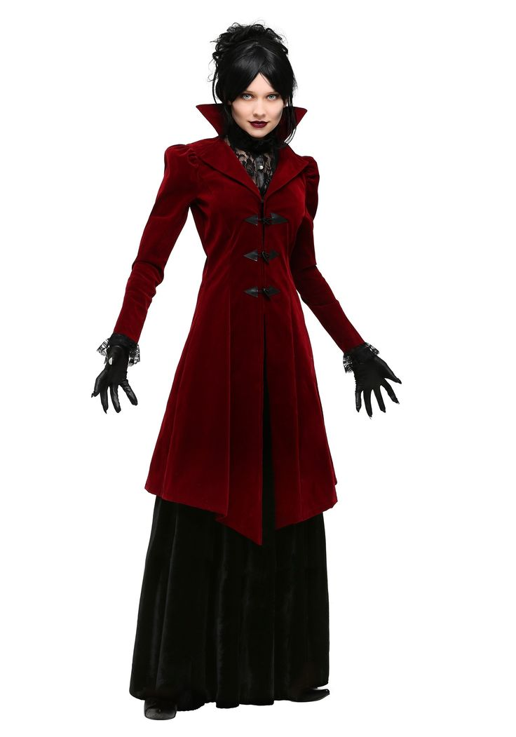 You'll look delightfully dreadful in this women's plus size vampiress costume!