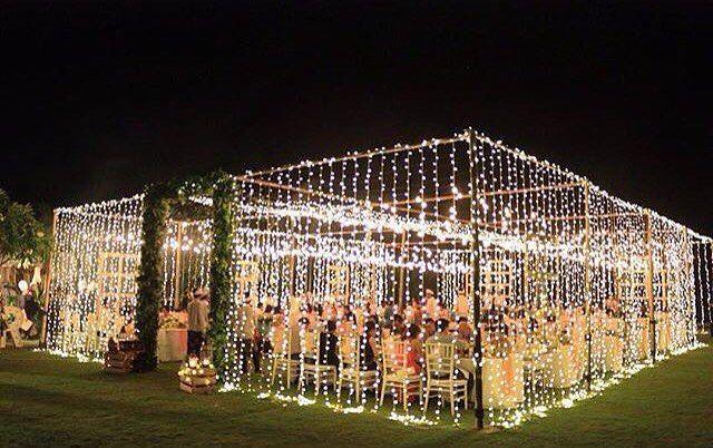 T E N T  W E D D I N G filled with fairy lights by @signatureweds 💖💗💖 #Bali #baliwedding #balibride #TheBaliBride