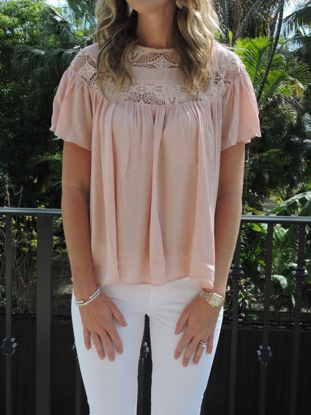 Innovative Innocence Blouse, Rose Quartz || The Mint Julep Boutique https://www.shopthemint.com/products/innovative-innocence-blouse-rose-quartz