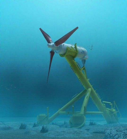 100-Foot Subsea Turbine Successfully Installed at World's First Tidal Farm Off the Coast of Scotland | Inhabitat - Green Design, Innovation, Architecture, Green Building