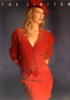Claudia Schiffer in red.