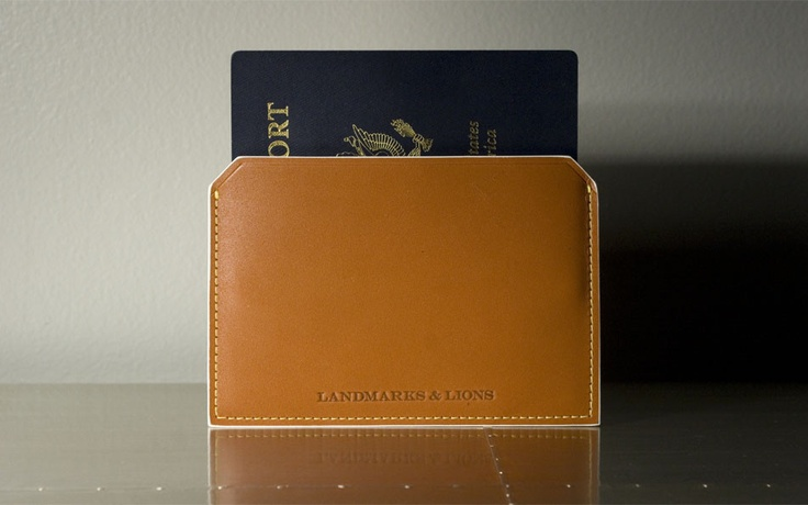 F/W 2012 Landmarks & Lions - Quantum leather passport case