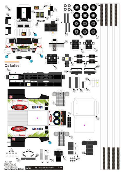 BB 32 MB Actros 3351 Dakar 2012 - www.minimodel.cz - Minimodel.cz