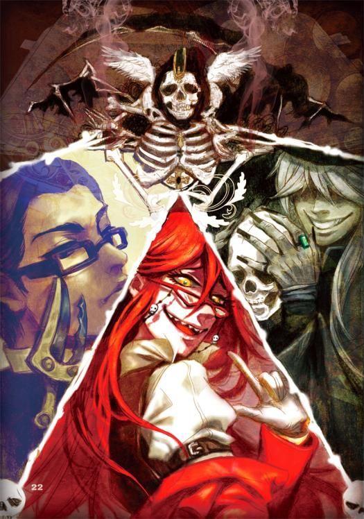 Аниме картинка, арт. Тёмный дворецкий. Работники Смерти.