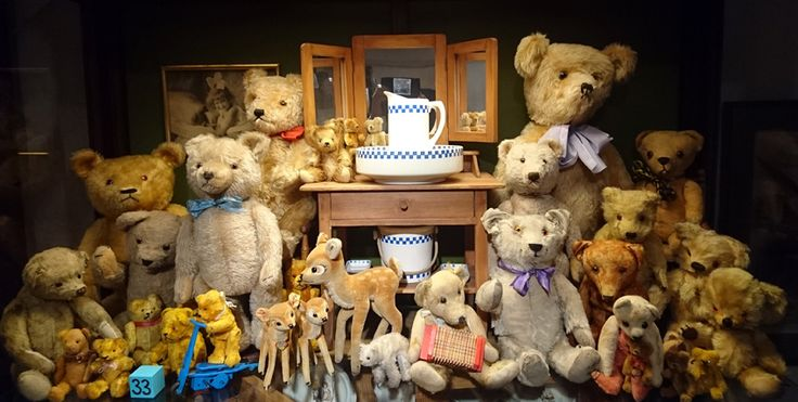 Some of the Teddy Bears in Suomenlinna Toy Museum.