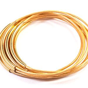 Leather Bangles Set Gold, $25, now featured on Fab.